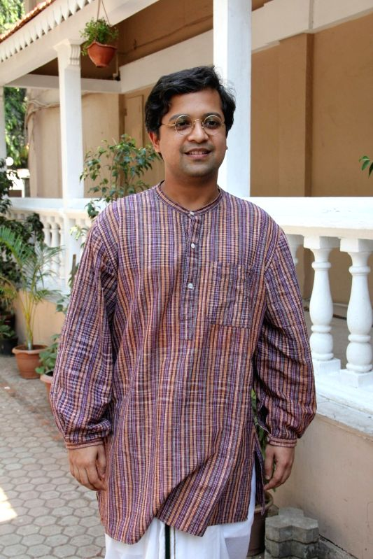 Actor Anand Tiwari during the promotion of the Film Detective Byomkesh Bakshy on the set of CID in Mumbai on March 30, 2015. - Anand Tiwari