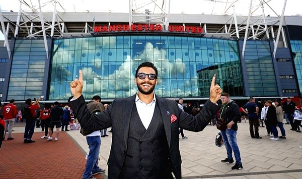 Actor and brand ambassador of Premier League Ambassador Ranveer Singh at the opening of Premier League Season at Old Trafford in Manchester, England on Aug 10, 2018. - Ranveer Singh