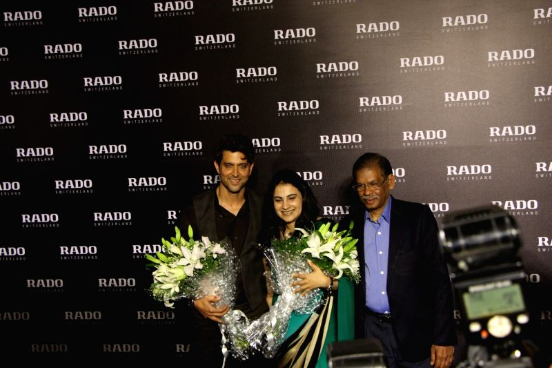 Actor and brand ambassador of Rado Hrithik Roshan during the unveils of Rado Brown high-tech ceramic collection at the Rado store, in Mumbai on May 27, 2016. - Rado Hrithik Roshan