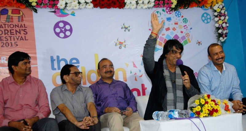 Actor and chairperson of Children Film Society of India (CFSI) Mukesh Khanna during a programme in Hyderabad on Nov 13, 2015.