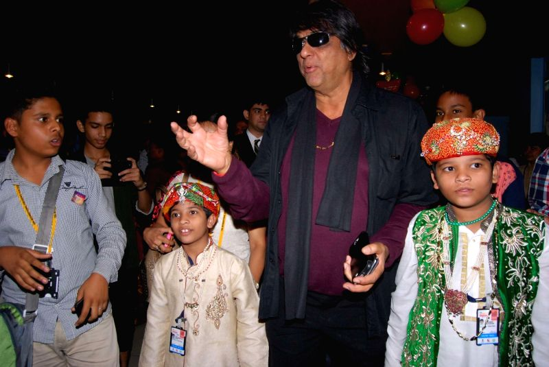 Actor and chairperson of Children Film Society of India ( CFSI) Mukesh Khanna at International Childerns Film Festival in Hyderabad on Nov 17, 2015.