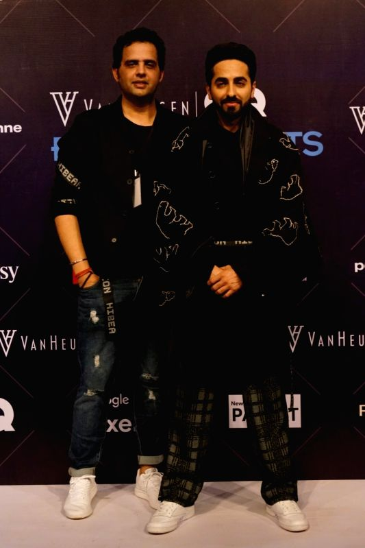 Van Heusen + GQ Fashion Nights 2017 - Ayushmann Khurrana, Sahil Aneja