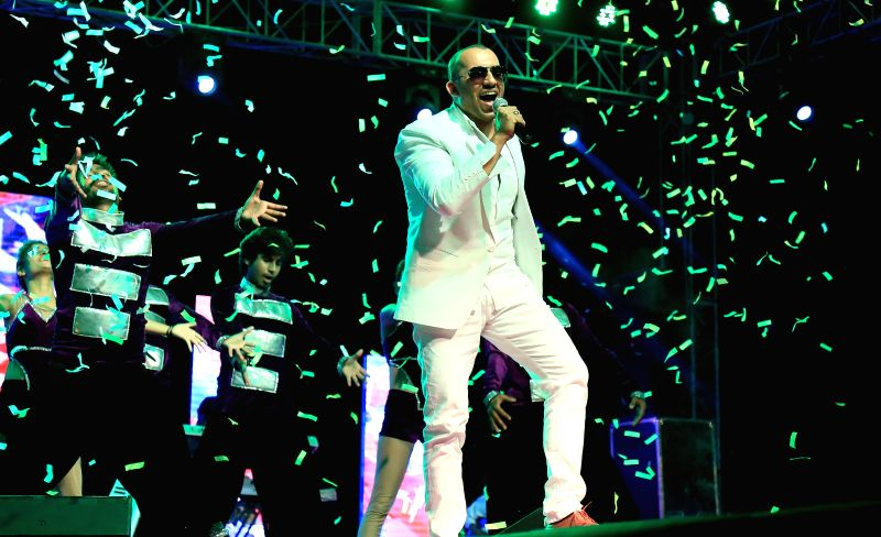 Actor and Singer Ali Quli Mirza (AQM) peforms during a programme in Jaipur on June 16, 2014.