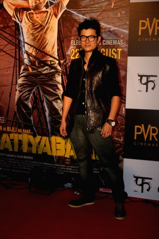 Actor and singer Meiyang Chang during the screening of the film Katiyabaaz in Mumbai, on Aug. 20, 2014.