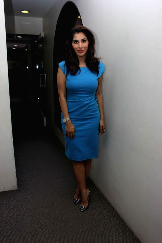 Actor and singer Sophie Choudry during the media interaction on the release of the song Raat Akeli Hai in Mumbai on June 18th, 2014