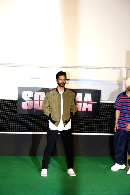 "Actor Angad Bedi at the trailer launch of his upcoming film ""Soorma"" in Mumbai on June 11, 2018. - Angad Bedi"