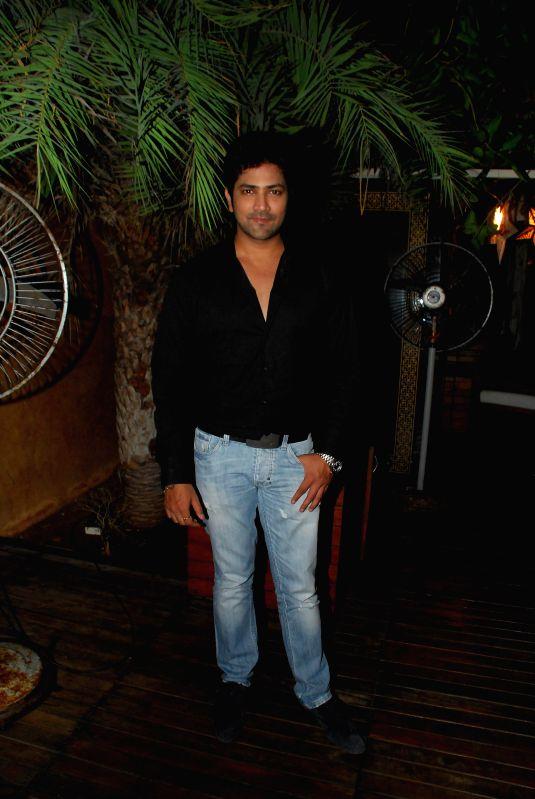 Actor  Aniket Vishwasrao during the success party of Marathi film Poshter Boyz in Mumbai, on Aug 19, 2014. - Aniket Vishwasrao
