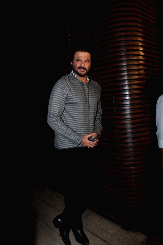 Actor Anil Kapoor during Priyanka Chopra's party in Mumbai on April 26, 2017. - Anil Kapoor and Priyanka Chopra