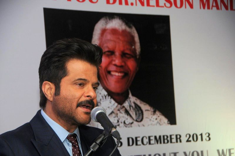Actor Anil Kapoor during the first Death Anniversary function of South African Leader Nelson Mandela in Mumbai, on Dec 5, 2014.