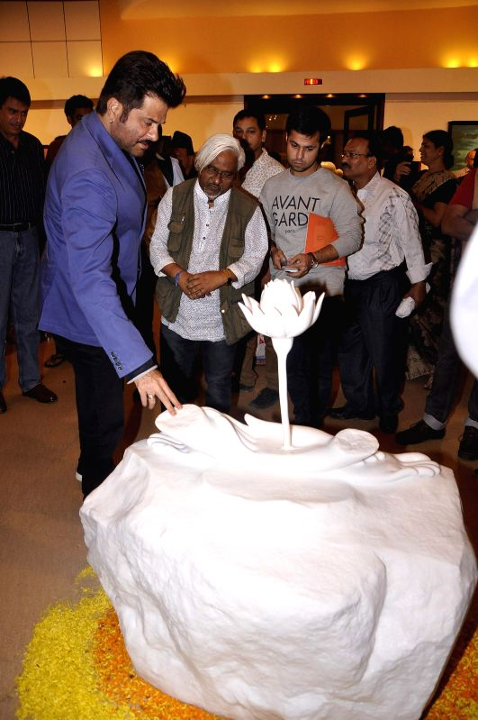 Actor Anil Kapoor during the inauguration of art exhibition Divinity by artist Dr Archana Srivastava in Mumbai on Dec 1, 2014. - Anil Kapoor