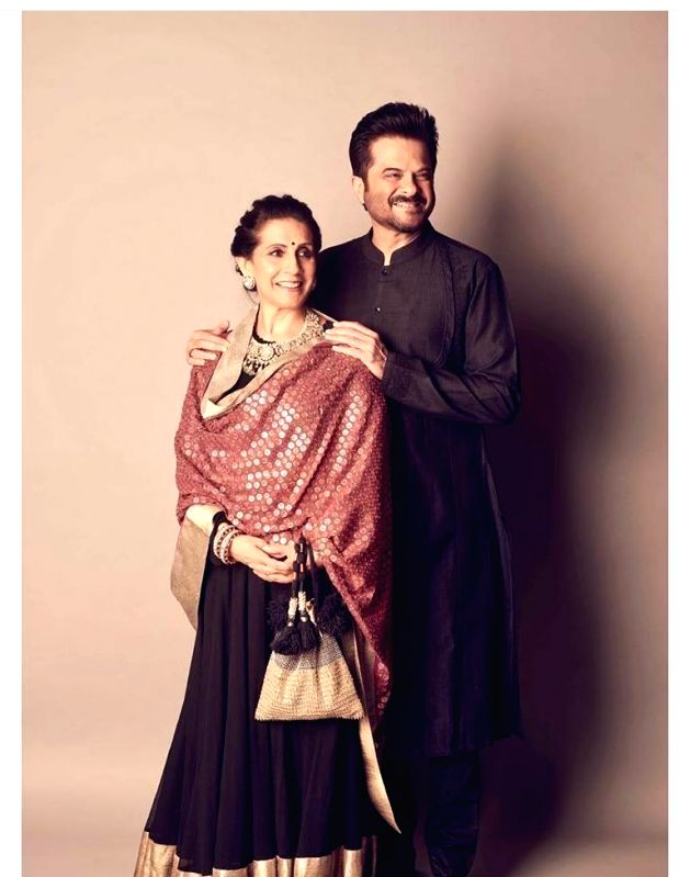 """Actor Anil Kapoor is seen in totally love mood on Valentine's Day. He penned an adorable post for his wife Sunita. """"Just two fools in love creating a life together! Everyday is Valentine's'Day with you! She is the secret behind me!! Forever & Alway"""