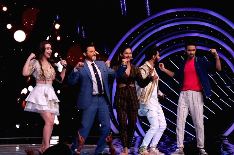 """Actor Anil Kapoor on the sets of reality television show """"Dance Deewane"""" in Mumbai on July 23, 2018. - Anil Kapoor"""