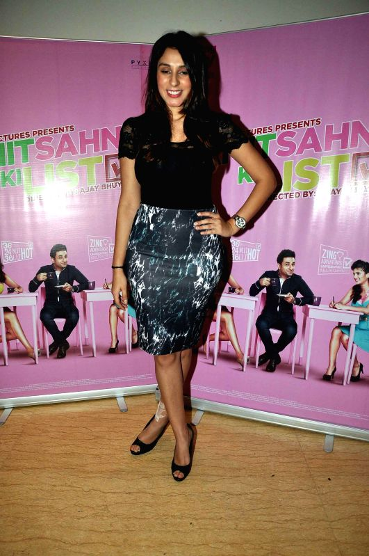 Actor Anindita Naiyar during media interaction of film Amit Sahni Ki List in Mumbai on July 9, 2014. - Anindita Naiyar