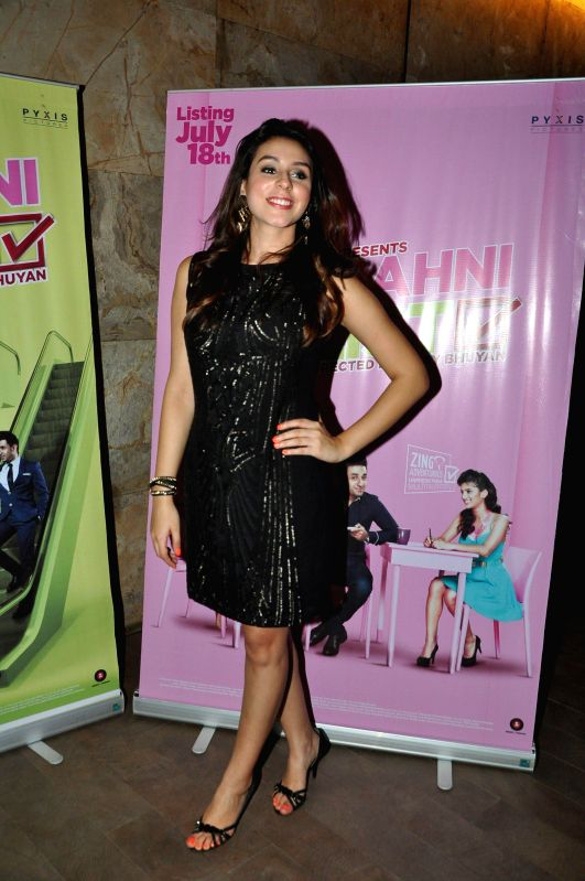 Actor Anindita Nayar during the screening of film Amit Sahni Ki List at Lightbox in Mumbai on July 14, 2014. - Anindita Nayar