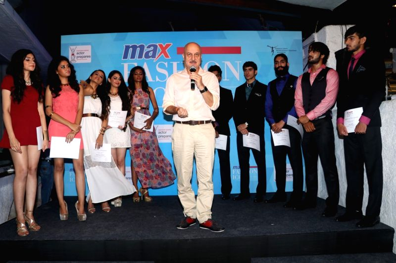 Actor Anupam Kher during announcment of Max fashion icon 2016 in Mumbai, on May 13, 2016. - Anupam Kher