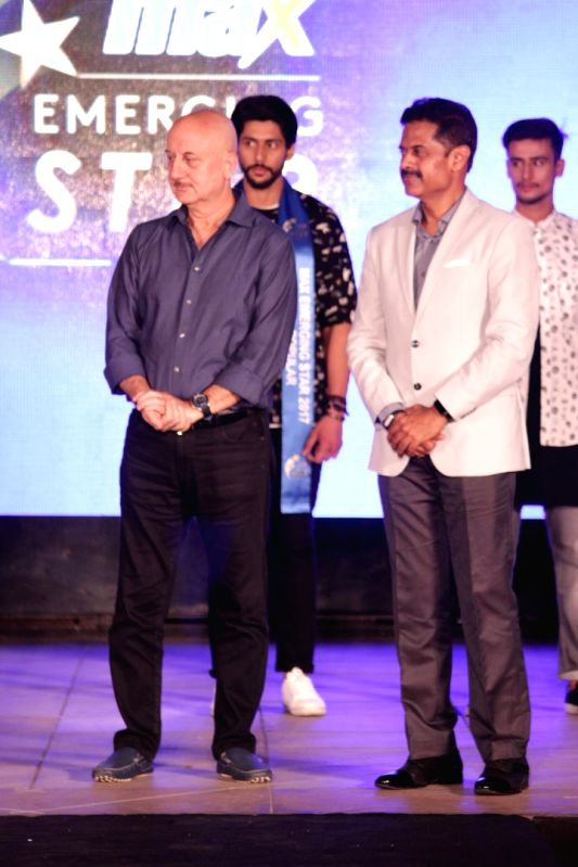"Actor Anupam Kher during the grand finale of ""Max Emerging Star""  in Mumbai on April 19, 2017. - Anupam Kher"