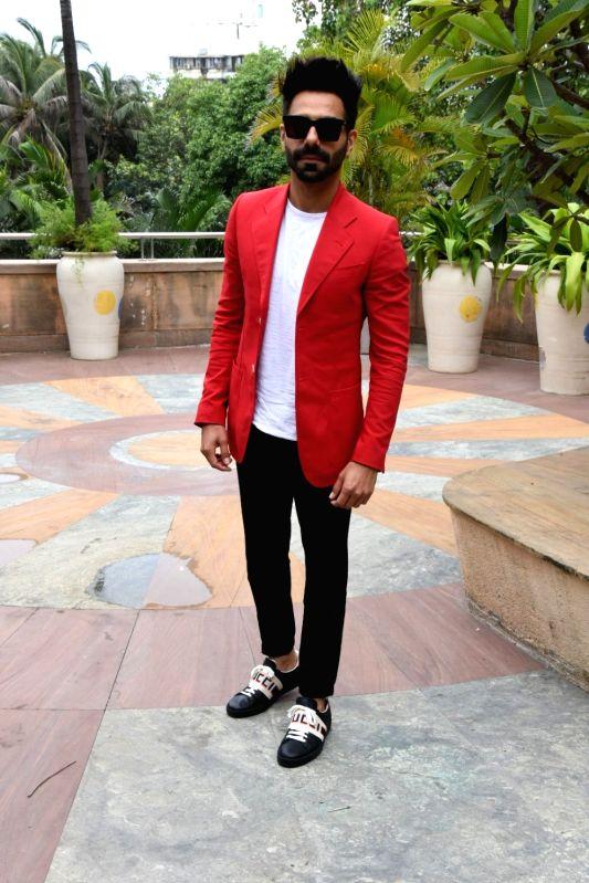 "Actor Aparshakti Khurana at the promotion of his upcoming film ""Stree"" in Mumbai on Aug 7, 2018. - Aparshakti Khurana"