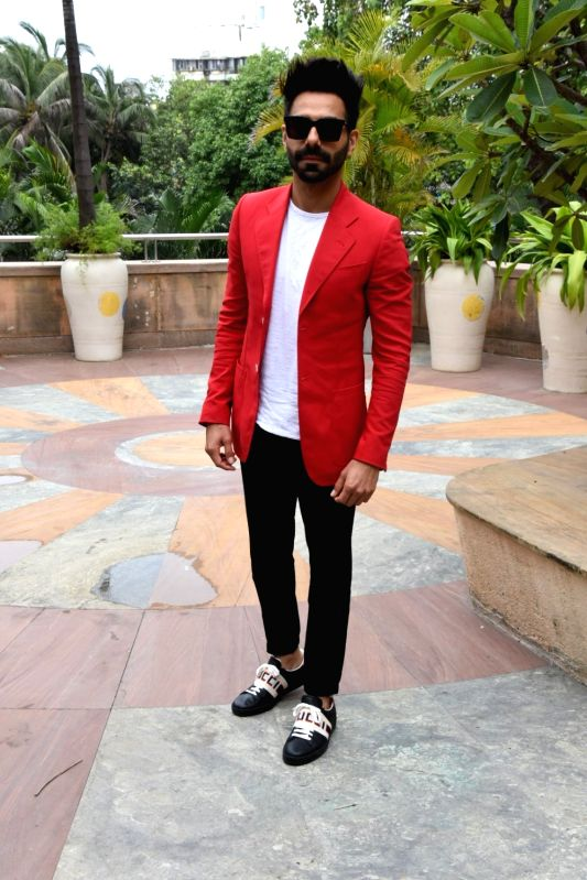 "Actor Aparshakti Khurana at the promotion of his upcoming film ""Stree"" in Mumbai on Aug 7, 2018. - Aparshakti Khurana"