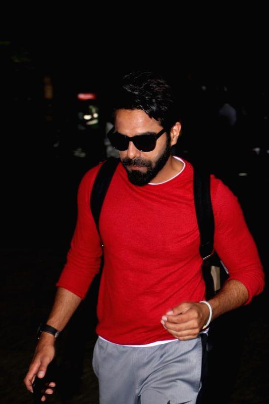 Actor Aparshakti Khurana spotted at Airport in Mumbai on June 3, 2017. - Aparshakti Khurana