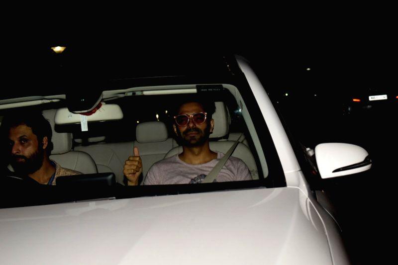 "Actor Aparshakti Khurrana at the special screening of upcoming film ""Soorma"" in Mumbai on July 11, 2018. - Aparshakti Khurrana"