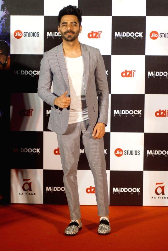 "Actor Aparshakti Khurrana  at the trailer launch of his upcoming film ""Stree"" in Mumbai on July 26, 2018. - Aparshakti Khurrana"