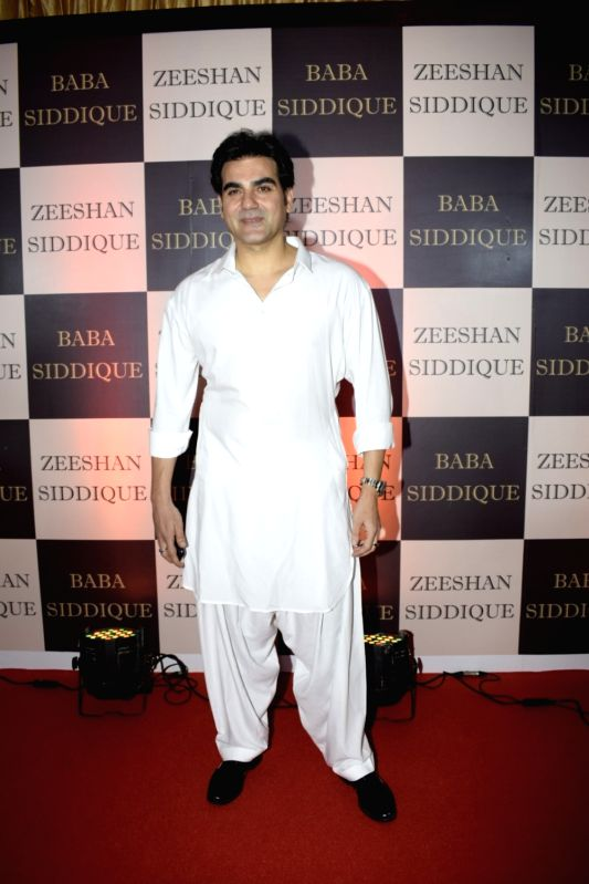 Actor Arbaaz Khan at politician Baba Siddique's iftar party in Mumbai on June 10, 2018. - Arbaaz Khan