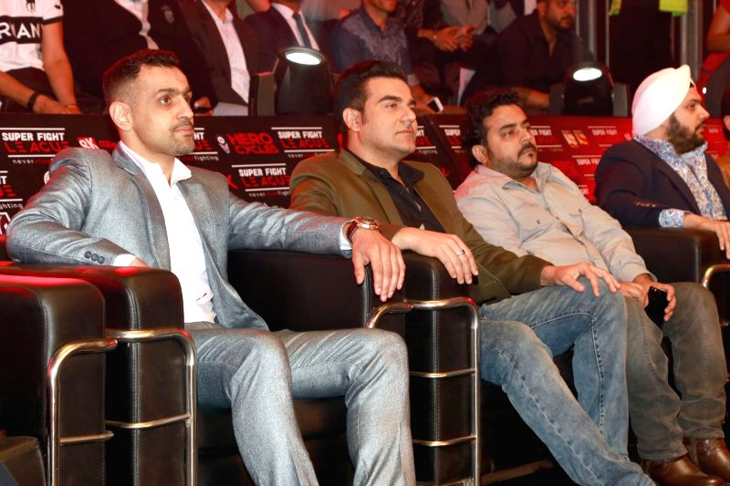 Actor Arbaaz Khan at the at Super Fight League, in New Delhi, on February 17,2017. - Arbaaz Khan