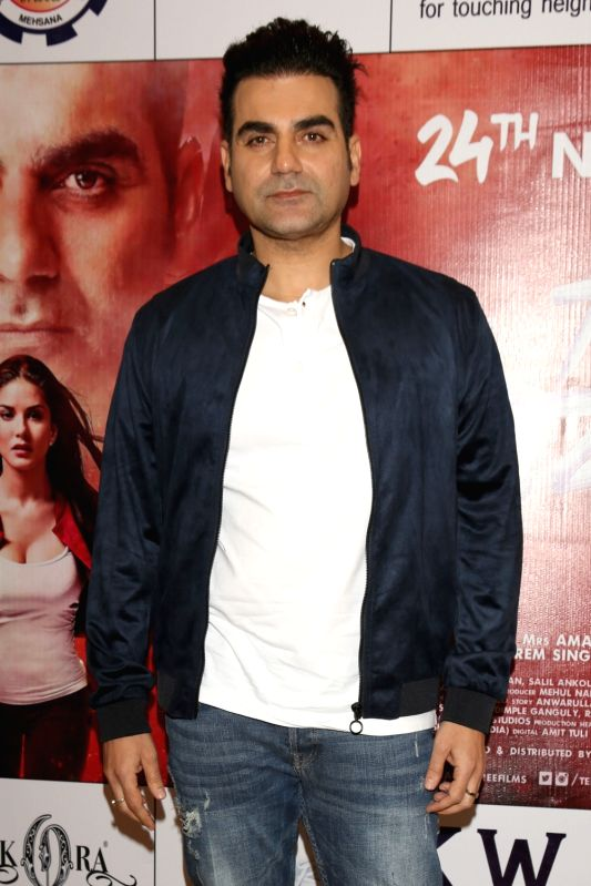 "Actor Arbaaz Khan during a press conference to promote his upcoming film ""Tera Intezaar"" in New Delhi on Nov 21, 2017. - Arbaaz Khan"