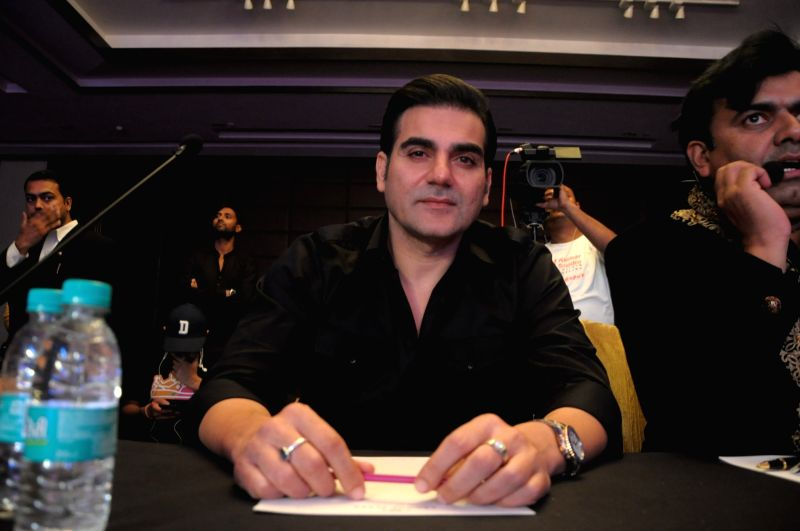 Actor Arbaaz Khan during the grand finale of Mr. & Miss 2018 and Mrs. 2018 India in New Delhi on July 19, 2018. - Arbaaz Khan