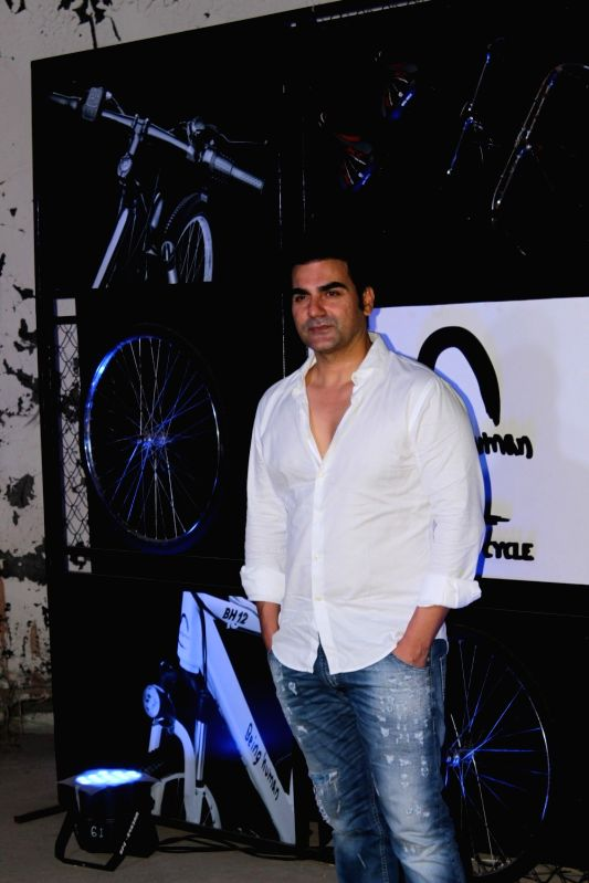 Actor Arbaaz Khan during the launch of Being Human electric bicycles in Mumbai on June 5, 2017. - Arbaaz Khan