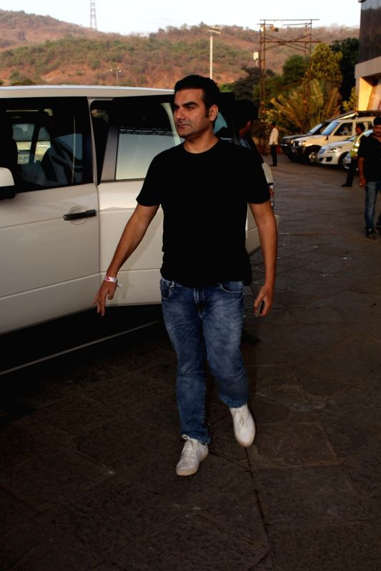 Actor Arbaaz Khan during the red carpet of Justin Bieber concert in Mumbai on May 10, 2017. - Arbaaz Khan