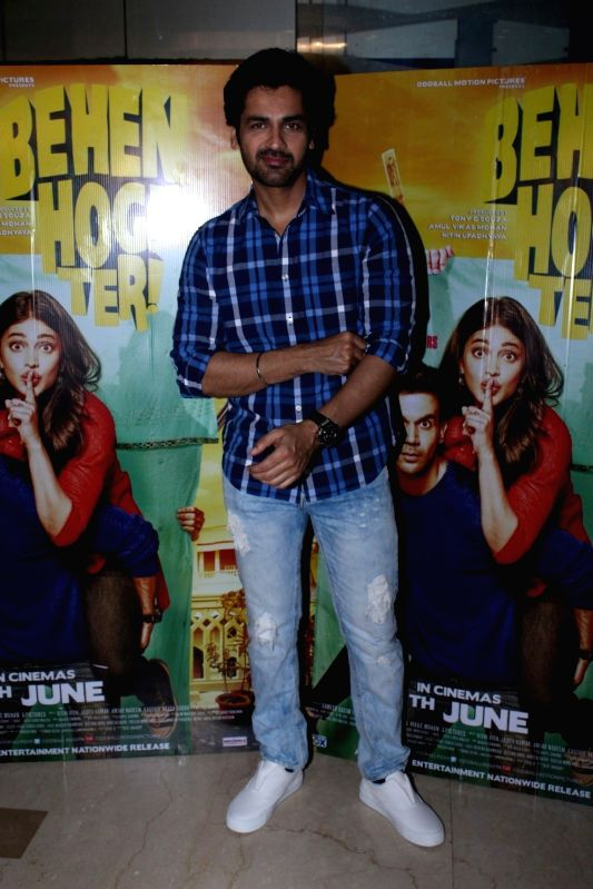Actor Arjan Bajwa during the screening of film Behen Hogi Teri in Mumbai, in Mumbai, on June 7, 2017. - Arjan Bajwa