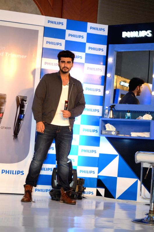 Actor Arjun Kapoor announced brand ambassador for Philips India`s male grooming range in Mumbai on July 7, 2014.