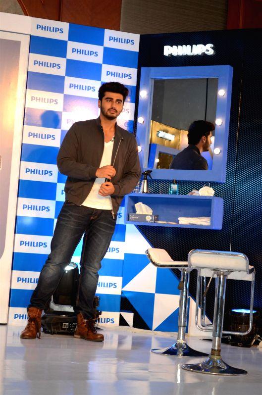 Actor Arjun Kapoor announced brand ambassador for Philips India`s male grooming range in Mumbai on July 7, 2014.