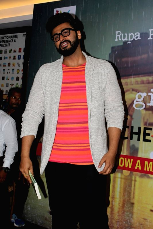 "Actor Arjun Kapoor at the launch of Chetan Bhagat's book ""Half Girlfriend""  in Mumbai on May 8, 2017. - Arjun Kapoor"