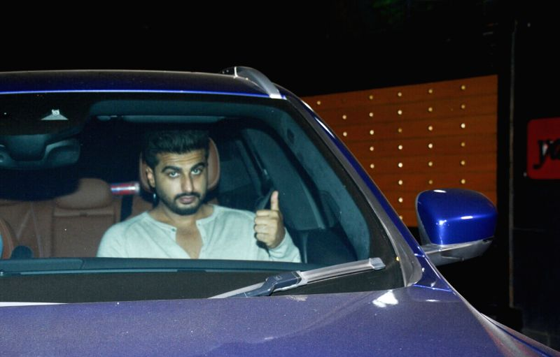 "Actor Arjun Kapoor at the special screening of film ""October"" in Mumbai on April 12, 2018. - Arjun Kapoor"