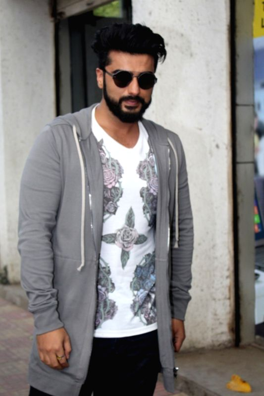 "Actor Arjun Kapoor during promotions of their upcoming film ""Half Girlfriend"" Reliance Digital in Mumbai on May 19, 2017. - Arjun Kapoor"