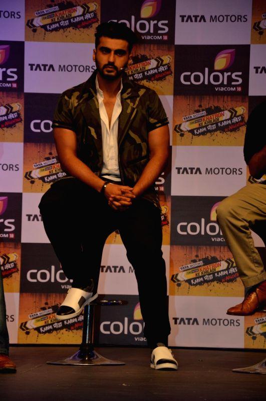Actor Arjun Kapoor during the launch of Colors TV show Khatron Ke Khiladi: Kabhi Peeda, Kabhi Keeda in Mumbai on Oct 29, 2015. - Arjun Kapoor