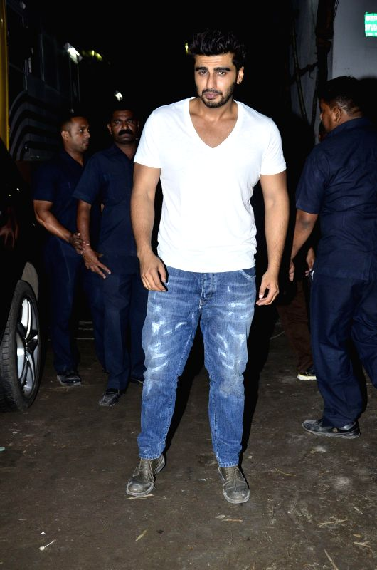 Actor Arjun Kapoor during the wrap up party of film Tevar, in Mumbai, on Aug. 21, 2014. - Arjun Kapoor