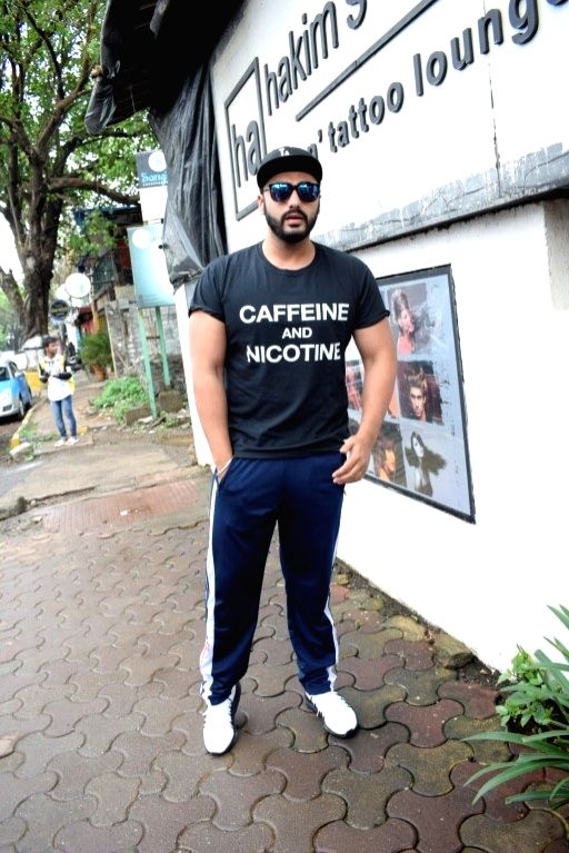 Actor Arjun Kapoor seen at a salon in Versova, Mumbai on Aug 9, 2018. - Arjun Kapoor