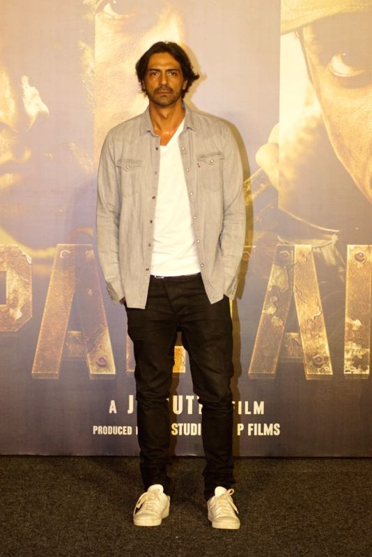 "Actor Arjun Rampal at the trailer launch of upcoming film ""Paltan"", in Mumbai on Aug 2, 2018. - Arjun Rampal"