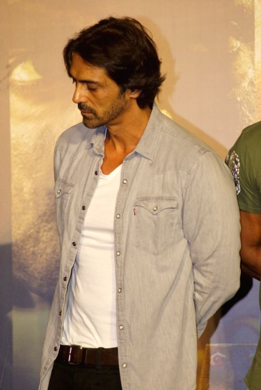 "Actor Arjun Rampal at the trailer launch of his upcoming film ""Paltan"", in Mumbai on Aug 2, 2018. - Arjun Rampal"