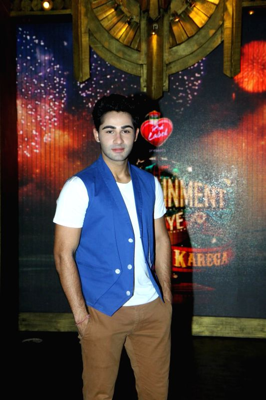 Actor Armaan Jain on the sets of Entertainment Ke Liye Kuch Bhi Karega to promote upcoming film Lekar Hum Deewana Dil in Mumbai on June 30, 2014. - Armaan Jain