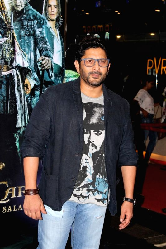 Actor Arshad Warsi during the screening of Hollywood film Pirates of The Caribbean: Salazar's Revenge in Mumbai on May 25, 2017. - Arshad Warsi