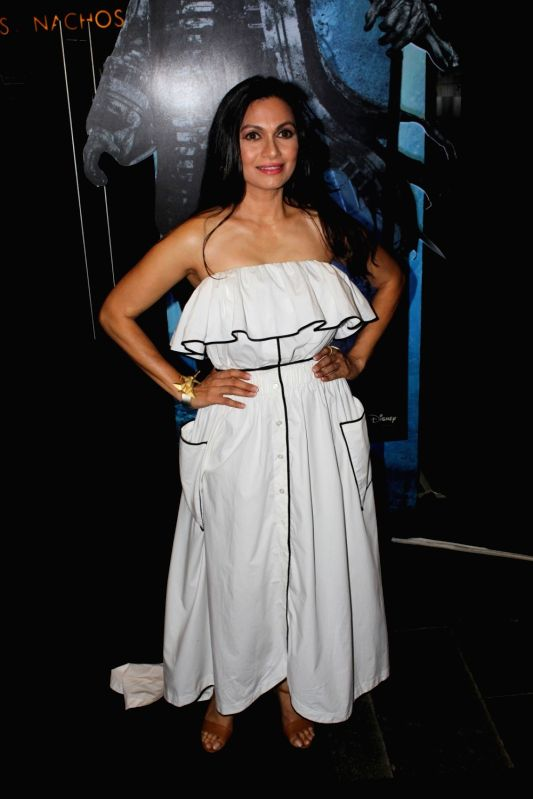 Actor Arshad Warsi`s wife Maria Goretti during the screening of Hollywood film Pirates of The Caribbean: Salazar's Revenge in Mumbai on May 25, 2017. - Arshad Wars