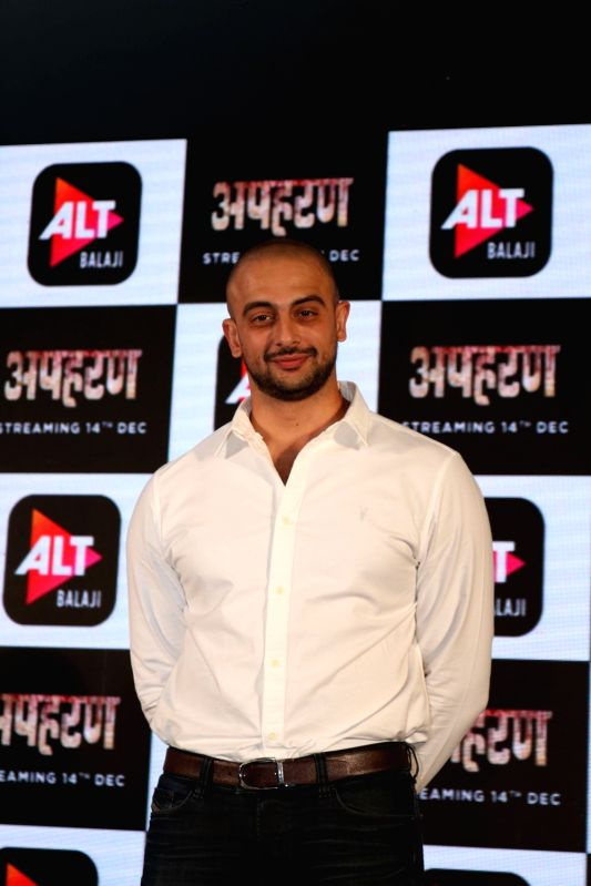 "Actor Arunodoy Singh at the launch of his web series ""Apharan"" in New Delhi, on Dec 6, 2018. - Arunodoy Singh"