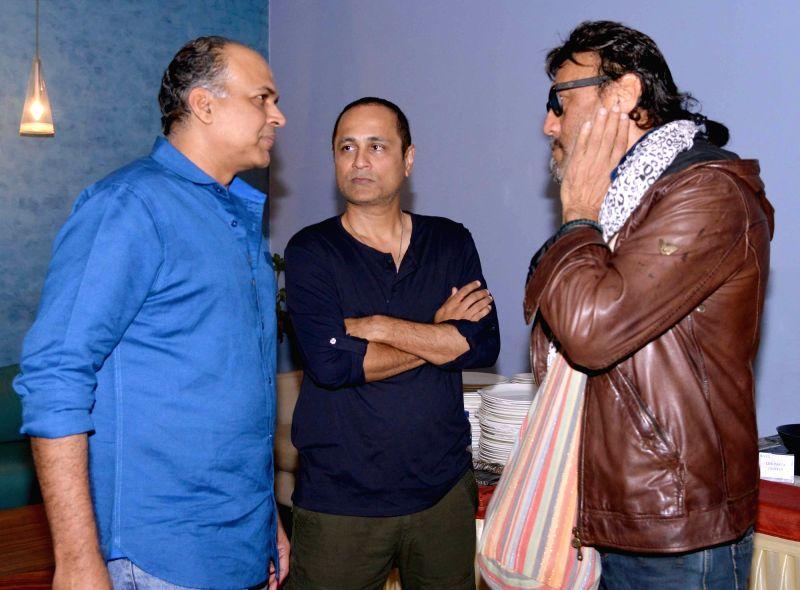 Actor Ashutosh Gowariker, Vipul Shah and Jackie Shroff during the screening of film Dishoom in Mumbai, on July 28, 2016. - Ashutosh Gowariker and Vipul Shah