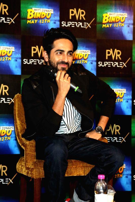 "Actor Ayushman Khuranna during a press conference organised to promote his upcoming film ""Meri Pyaari Bindu"" in Noida, on May 10, 2017. - Ayushman Khuranna"