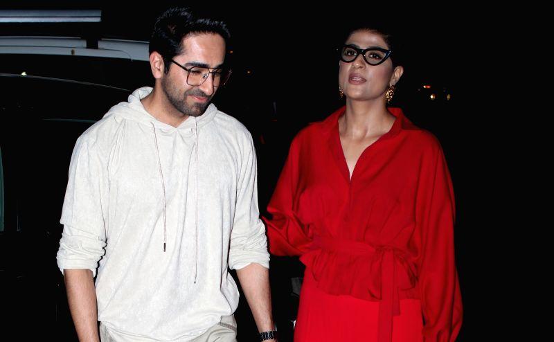 Actor Ayushmann Khurrana and his wife Tahira Kashyap.