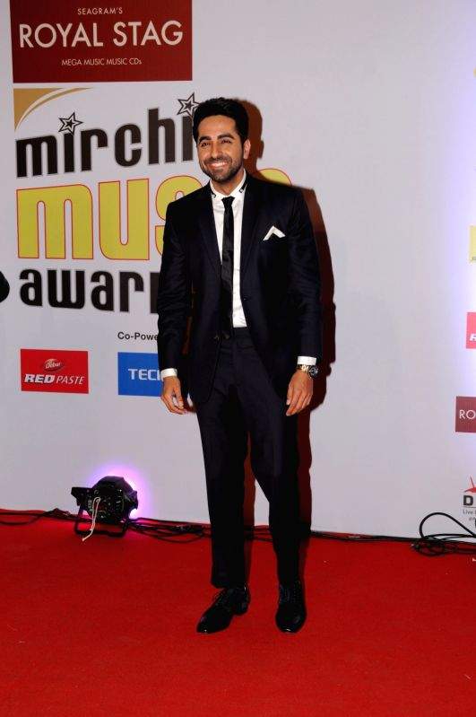 "Actor Ayushmann Khurrana at the red carpet of ""10th Mirchi Music Awards"" in Mumbai on Jan 28, 2018. - Ayushmann Khurrana"